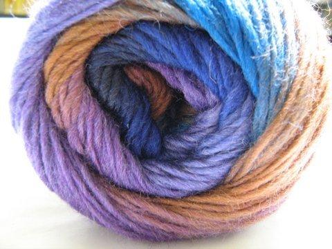 Color Flow Sockenwolle 4fädig F815 Türkis Lila Wollwelt Shop